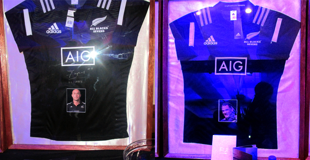 Signed All Blacks jerseys of DJ Forbes and Eric Rush