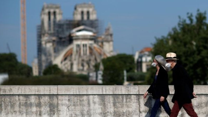Notre Dame Cathedral worksite refitted for virus safety