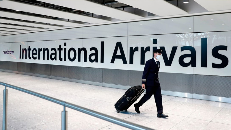 England eases self-isolation measures for passengers arriving from