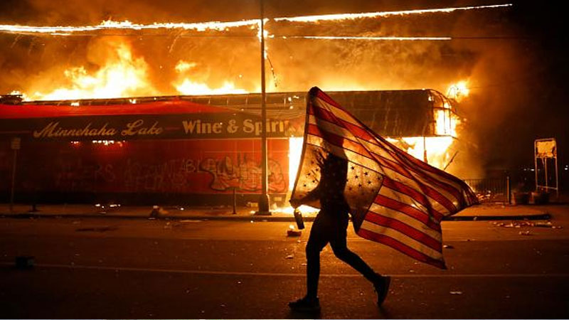 Protesters clash with police in cities across the US over the ...