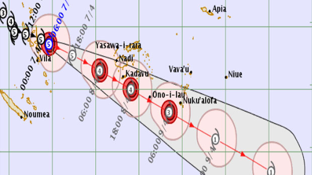 Cyclone Harold regains strength as it heads for Tonga