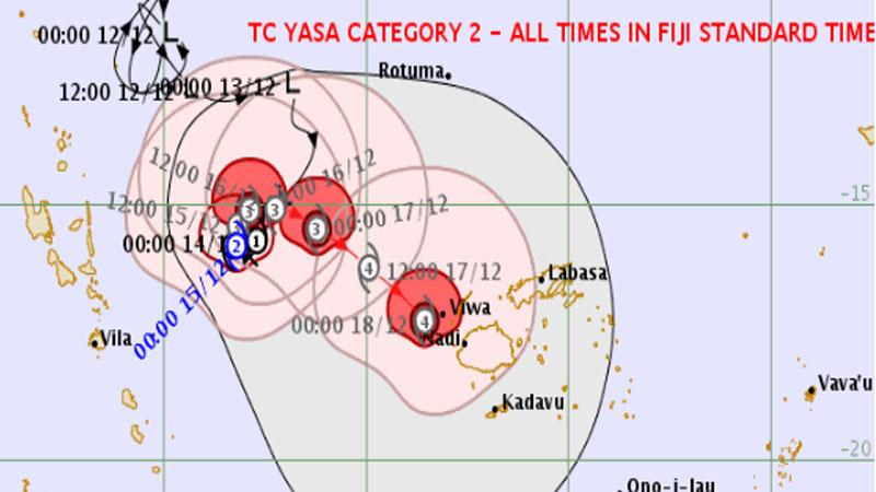 Fiji, Tonga batten down as cyclones gather pace