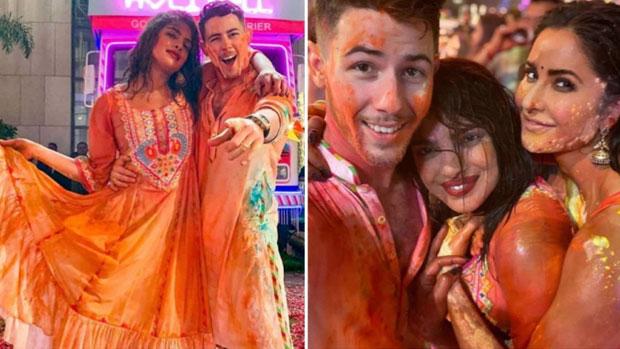 Nick Jonas and Priyanka Chopra Celebrate Holi in India