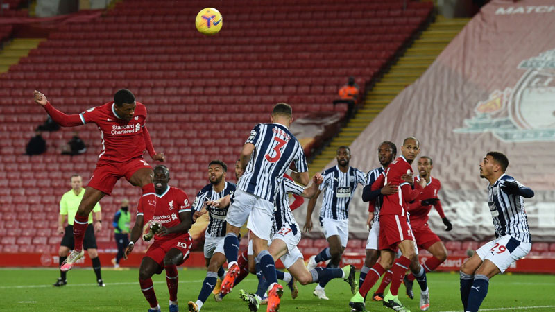 Liverpool concedes late to draw 1-1 with lowly West Brom